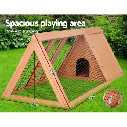 i.Pet Wooden Pet Hutch