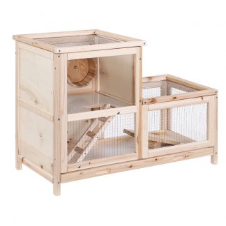 i.Pet Hamster Guinea Pig Ferrets Rodents Hutch Hutches Large Wooden Cage Running 80cm x 40cm x 60cm