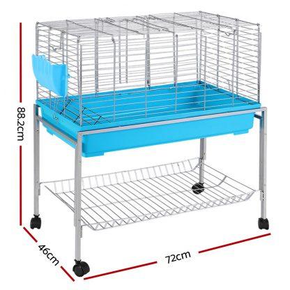 i.Pet Rabbit Cage Hutch Cages Indoor Hamster Enclosure Carrier Bunny Blue