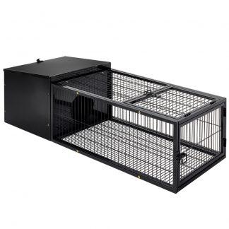 i.Pet Rabbit Cage Hutch Cages Indoor Outdoor Hamster Enclosure Pet Metal Carrier 122CM Length