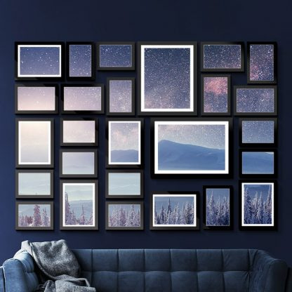 26 PCS Picture Photo Frame Wall Set Home Decor Present Gift Black