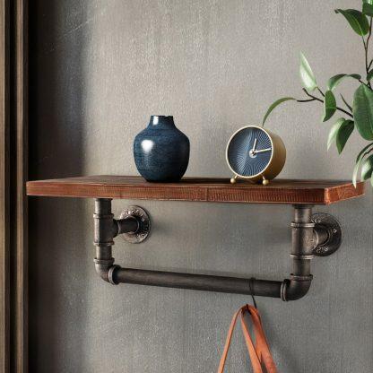 Artiss Display Shelves Wall Shelves Floating Bookshelf DIY Pipe Shelf Rustic Brackets Industrial