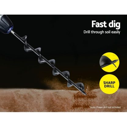 GIANTZ Garden Auger Power Earth Post Hole Digger Planter Drill Bit 50x450mm