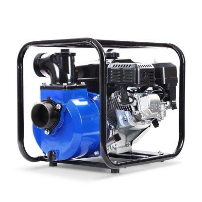 """Giantz 8HP 3"""" Petrol Water Pump Garden Irrigation Transfer Blue"""