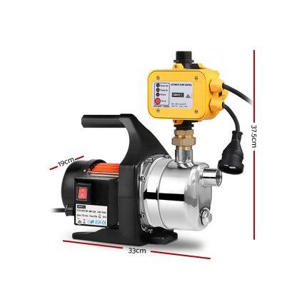 Giantz 1500W High Pressure Garden Water Pump with Auto Controller