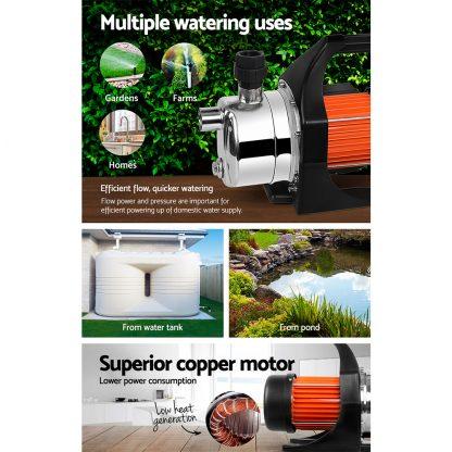 Giantz 800W Stainless Steel Garden Water Pump