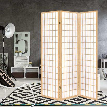 Artiss 3 Panel Wooden Room Divider - Natural
