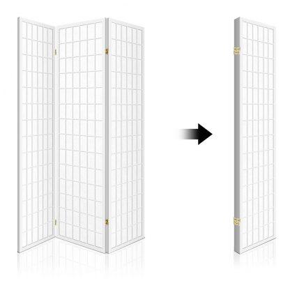 Artiss 3 Panel Wooden Room Divider - White