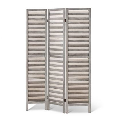 Artiss Room Divider Privacy Screen Foldable Partition Stand 3 Panel Grey