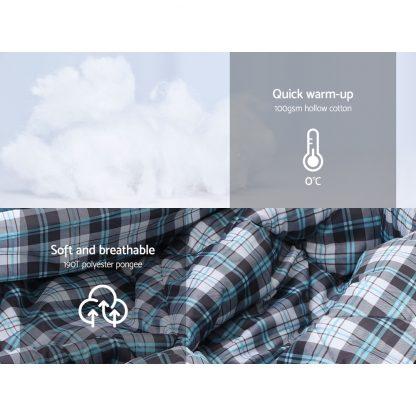 Weisshorn Sleeping Bag Single Camping Hiking Winter Thermal Grey