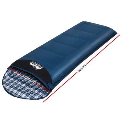 Weisshorn Sleeping Bag Single Camping Hiking Winter Thermal
