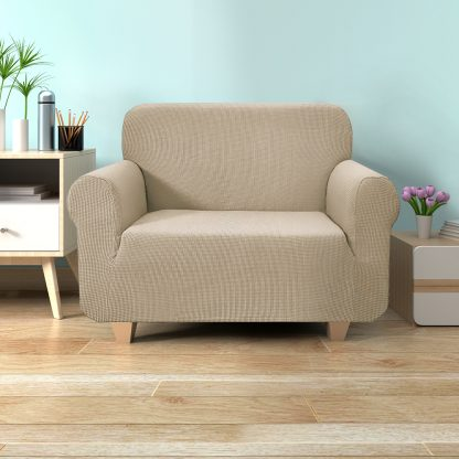 Artiss High Stretch Sofa Cover Couch Protector Slipcovers 1 Seater Sand