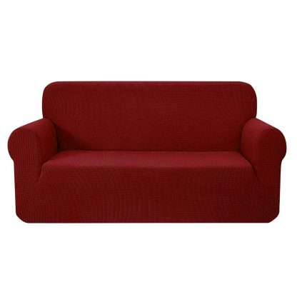 Artiss High Stretch Sofa Cover Couch Protector Slipcovers 3 Seater Burgundy