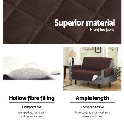 Artiss Sofa Cover Quilted Couch Covers Lounge Protector Slipcovers 1 Seater Coffee