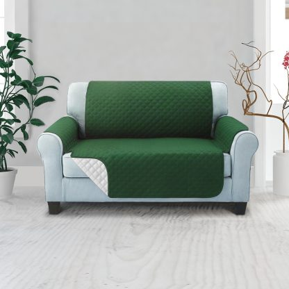 Artiss Sofa Cover Quilted Couch Covers Lounge Protector Slipcovers 2 Seater Green