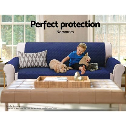 Artiss Sofa Cover Quilted Couch Covers Lounge Protector Slipcovers 2 Seater Navy