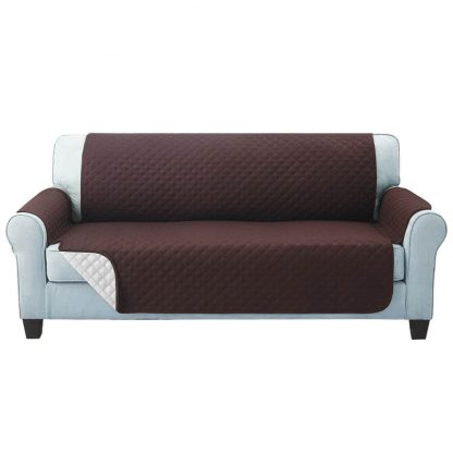 Artiss Sofa Cover Quilted Couch Covers Lounge Protector Slipcovers 3 Seater Coffee