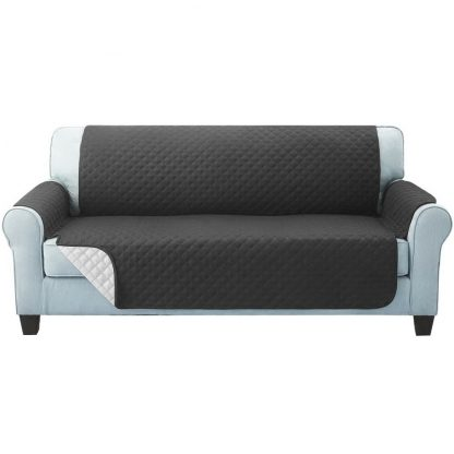 Artiss Sofa Cover Quilted Couch Covers Lounge Protector Slipcovers 3 Seater Dark Grey
