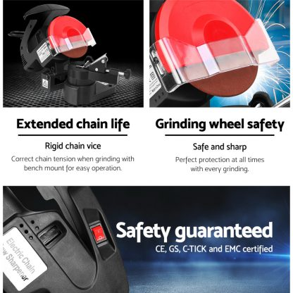GIANTZ 320W Chainsaw Sharpener Chain Saw Electric Grinder File
