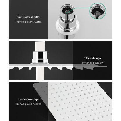Cefito WELS 10'' Rain Shower Head Set Round Handheld High Pressure Wall Chrome