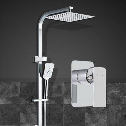 Cefito WELS 10'' Rain Shower Head Mixer Round Handheld High Pressure Wall Chrome