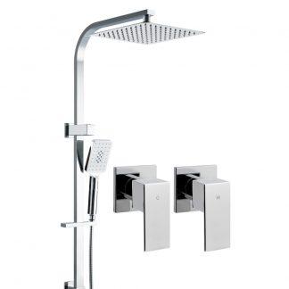 Cefito WELS 10'' Rain Shower Head Taps Round Handheld High Pressure Wall Chrome