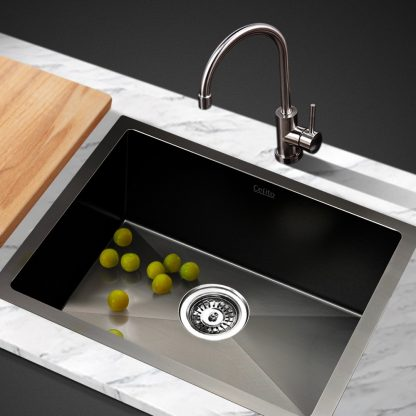 Cefito 450 x 300mm Stainless Steel Sink - Black