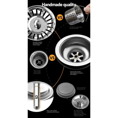 510x450mm Nano Stainless Steel Kitchen Sink