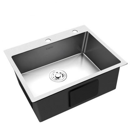 Cefito Stainless Steel Kitchen Sink 680x450MM SIngle Bowl Sinks Laundry Strainer