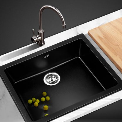Cefito 460 x 410 mm Granite Stone Sink - Black