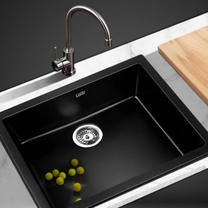 Cefito 610 x 470mm Granite Stone Sink - Black