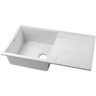 Cefito Kitchen Sink Granite Stone Laundry Top or Undermount Single White 860x500mm