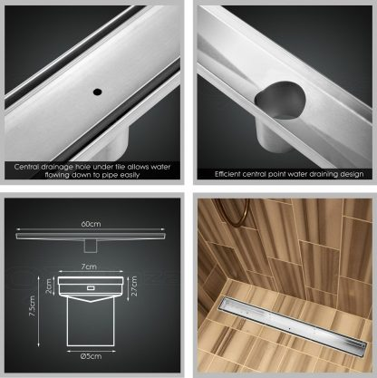 Cefito 600mm Stainless Steel Insert Shower Grate