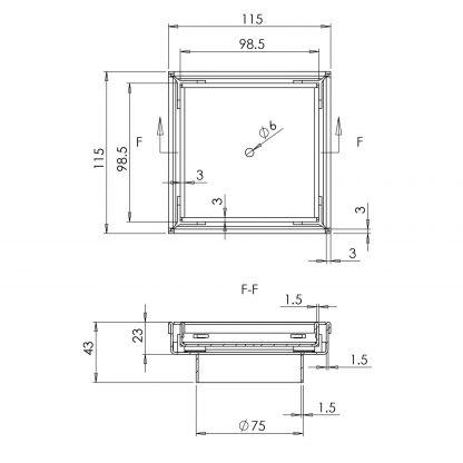 115x115mm Stainless Steel Shower Grate Tile Insert Drain Square Bathroom Home