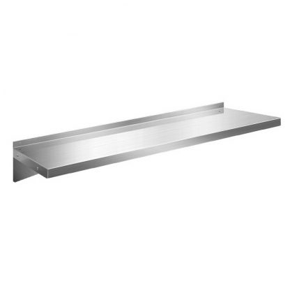 Stainless Steel Wall Shelf Kitchen Shelves Rack Mounted Display Shelving 1200mm