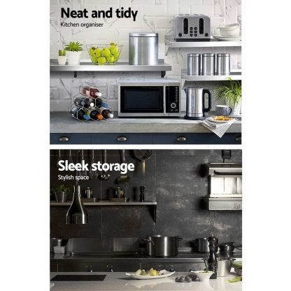 Stainless Steel Wall Shelf Kitchen Shelves Rack Mounted Display Shelving 1500mm
