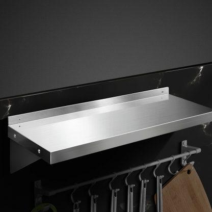 Stainless Steel Wall Shelf Kitchen Shelves Rack Mounted Display Shelving 600mm