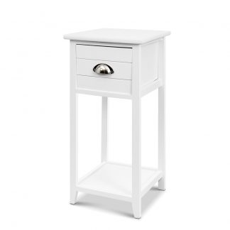 Artiss Bedside Table Nightstand Drawer Storage Cabinet Lamp Side Shelf White