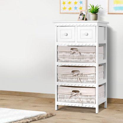 Artiss 3 Basket Storage Drawers - White