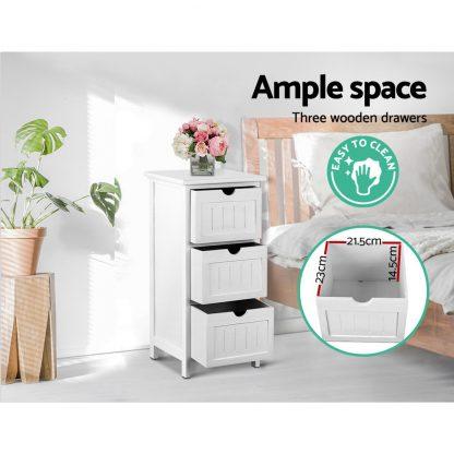 Artiss Bedside Table - White