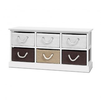 Artiss Storage Bench Shoe Organiser 6 Drawers Chest Cabinet Rack Box Shelf Stool