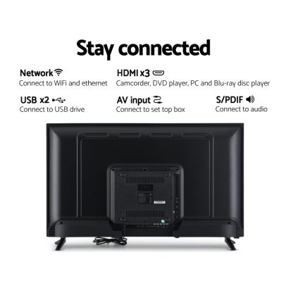 "Devanti Smart TV 40 Inch LED TV 40""2K Full HD LCD Slim Screen Netflix Dolby"