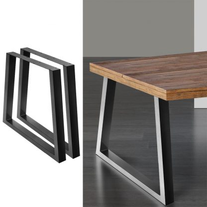 Artiss 2x Coffee Dining Table Legs 71x65/90CM Industrial Vintage Bench Metal Trapezoid