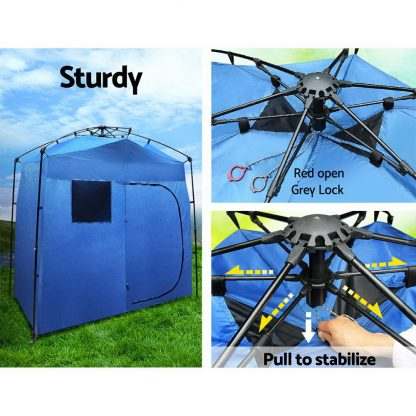 Portable Pop Up Shower Toilet Change Room Tent