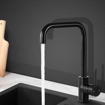 Cefito Mixer Kitchen Faucet Tap Swivel Spout WELS Black