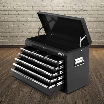 Giantz 9 Drawer Mechanic Tool Box Storage - Black