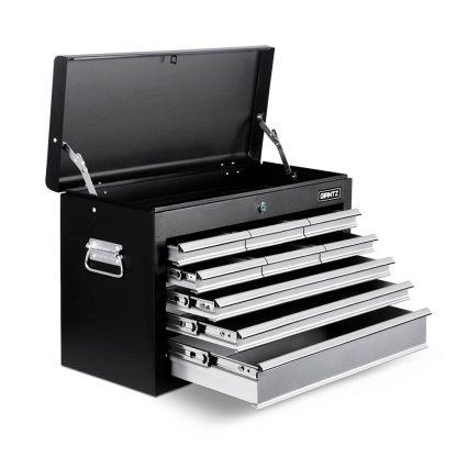 Giantz 9 Drawer Mechanic Tool Box Storage - Black & Grey
