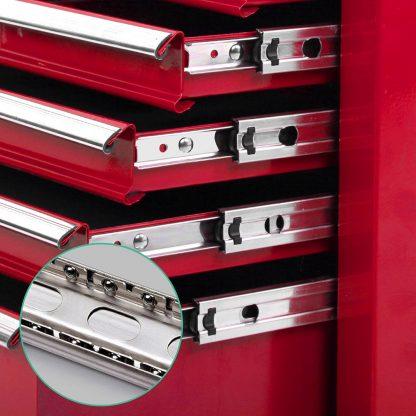 Giantz 9 Drawer Mechanic Tool Box Storage - Red