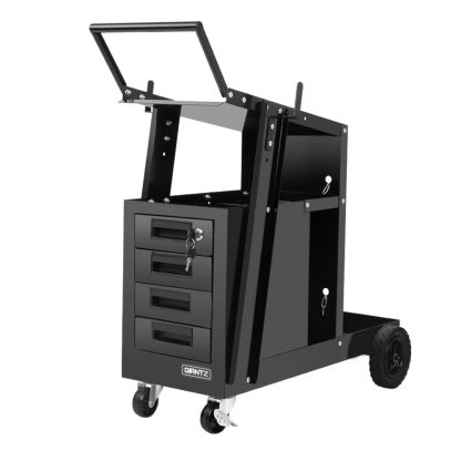 Giantz 4 Drawer Welding Trolley - Black