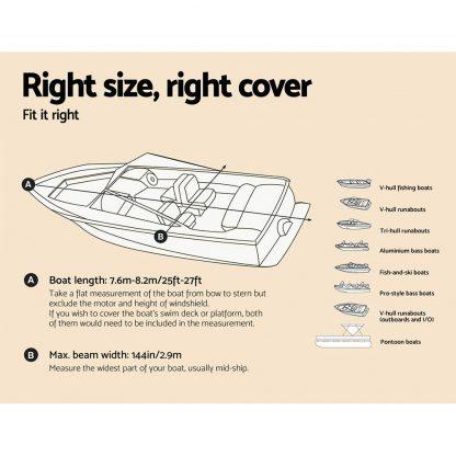 Seamanship 25 - 27ft Waterproof Boat Cover
